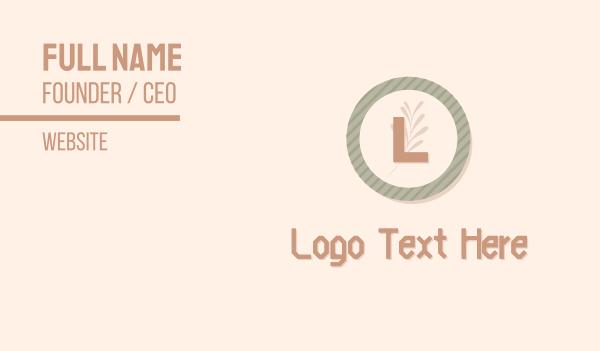 plate - Beauty & Wellness Lettermark Business card horizontal design
