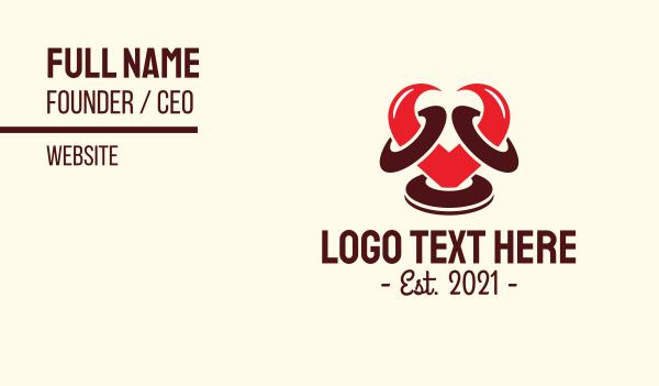 passion - Ram Heart Horns Business card horizontal design