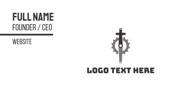 pedal - Christian Cycling Business card horizontal design