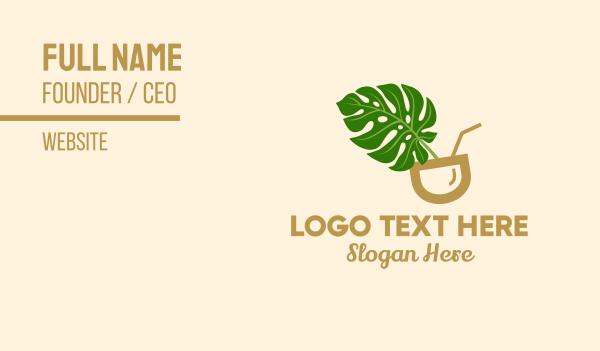 all natural - Natural Fresh Drink Business card horizontal design