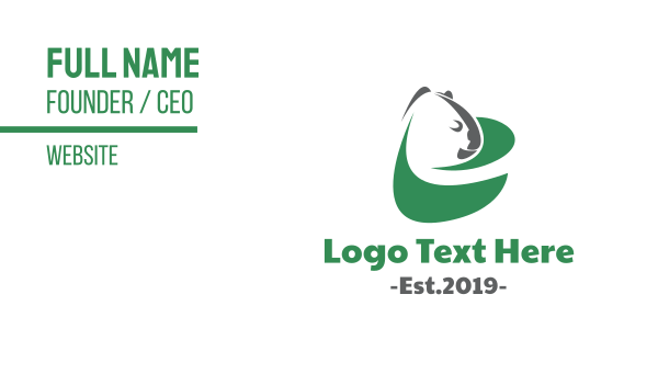 koala - Green Eco Koala  Business card horizontal design