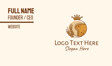 Bakery Wheat Bread King Queen Business Card