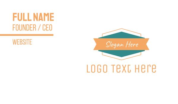 casual - Modern  Badge Brand Business card horizontal design