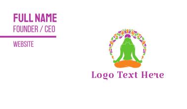 Floral Yoga Business Card