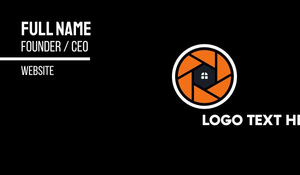 orange camera - Home Camera Shutter Business card horizontal design