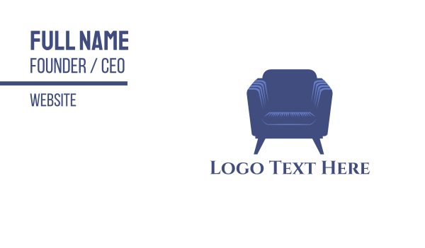 seat - Purple Armchair Business card horizontal design
