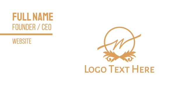 high tea - Classy W Business card horizontal design