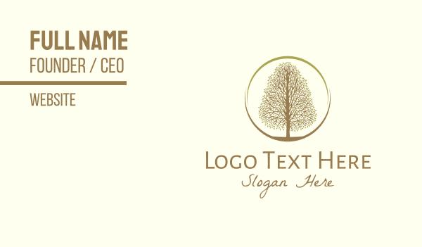 orchard - Autumn Tree Business card horizontal design