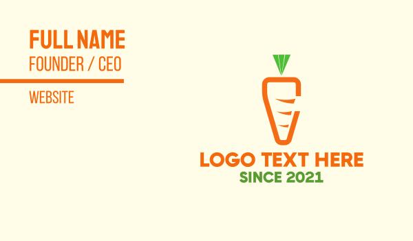 food store - Minimalist Carrot  Business card horizontal design