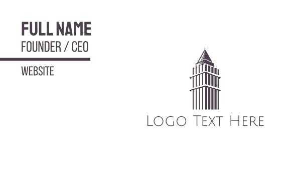 hong kong - Central Plaza Outline Business card horizontal design