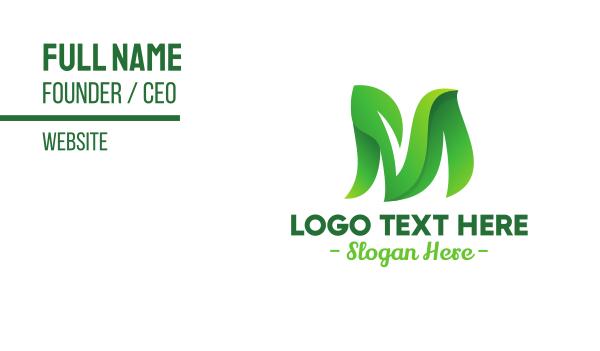 nutritious - Green Leafy M Business card horizontal design