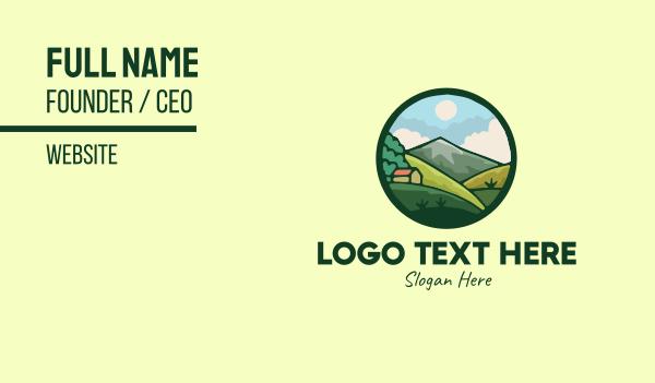 barn - Countryside Farming House Valley Business card horizontal design