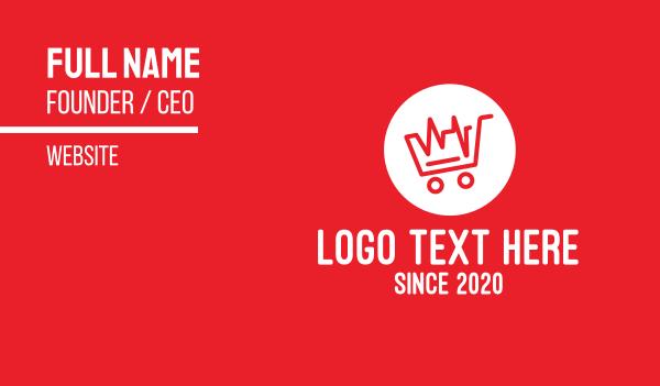 heartbeat - Red Heartbeat Shopping Cart Business card horizontal design