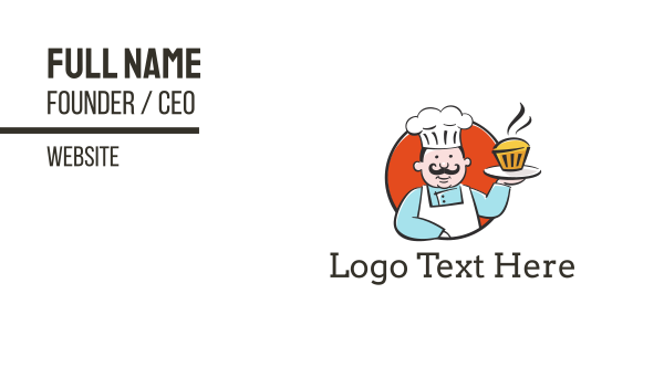 Cupcake Chef Business Card