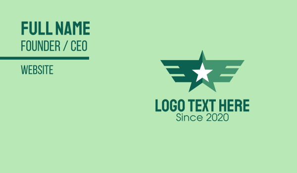 Green Star Wings Business Card