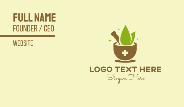 apothecary - Traditional Herbal Medicine Business card horizontal design