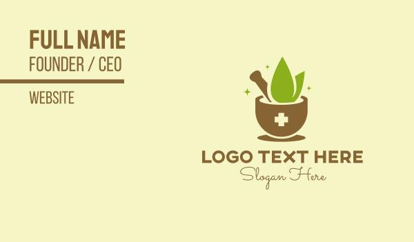 recipe - Traditional Herbal Medicine Business card horizontal design