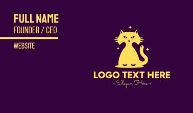 Yellow Midnight Cat Business Card