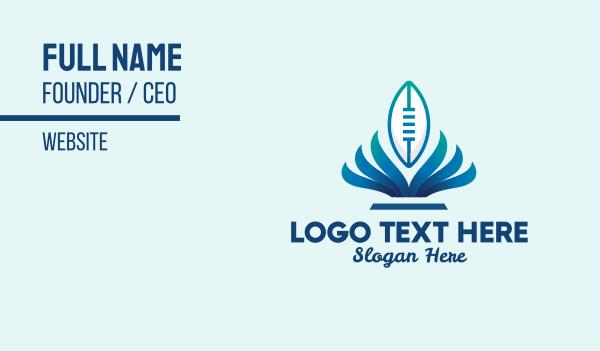 football equipment - Blue American Football  Business card horizontal design