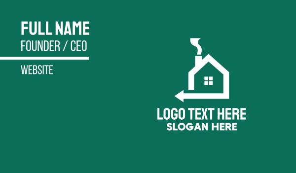 home property - Home Property Realtor Arrow Business card horizontal design