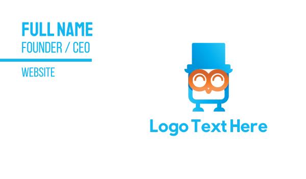 top hat - Owl Flash Drive Business card horizontal design