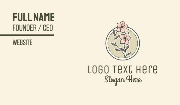 sakura - Sakura Flower Badge Business card horizontal design