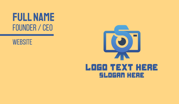 camera shop - Vlog Camera Letter S Business card horizontal design