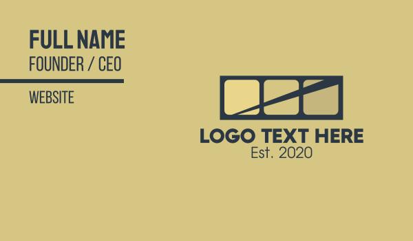 traffic - Highway Bridge Letter H Business card horizontal design