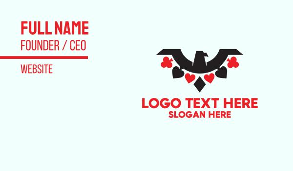 ace - Poker Eagle Business card horizontal design