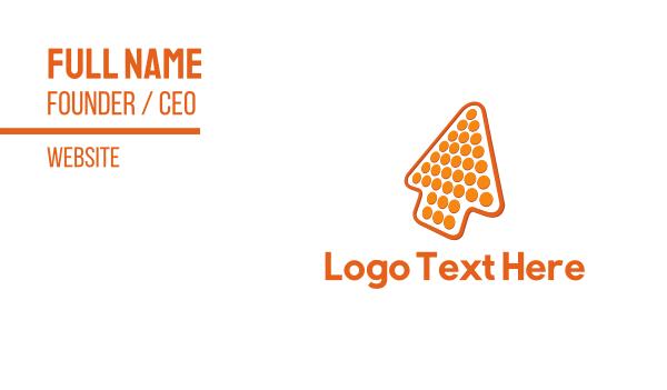 up - Orange Arrow Business card horizontal design