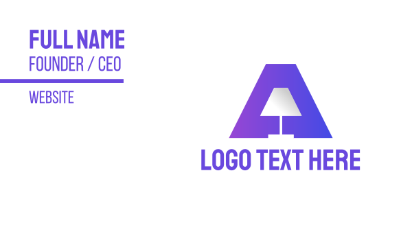 illumination - Gradient Lamp A Business card horizontal design