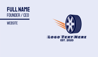 Tire Wheel Business Card