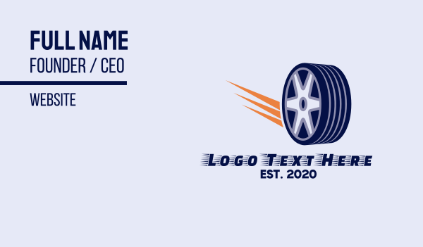 tire - Tire Wheel Business card horizontal design