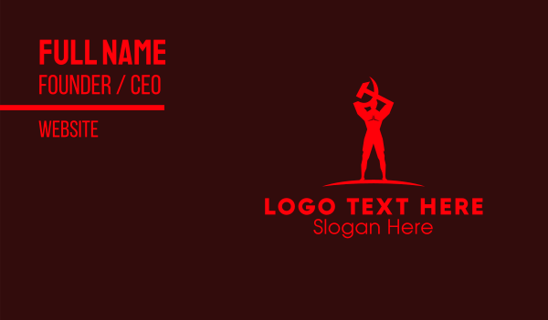 russia - Red Human Communist  Business card horizontal design