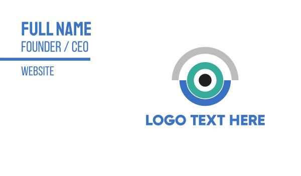 cam - Blue Camera Business card horizontal design