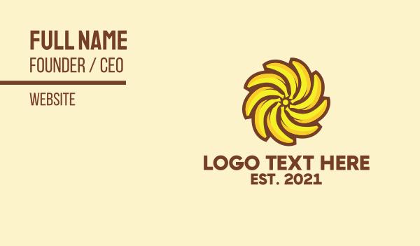 radial - Banana Sun Business card horizontal design