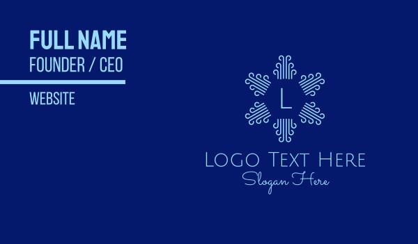 concert hall - Radial Breeze Lettermark Business card horizontal design