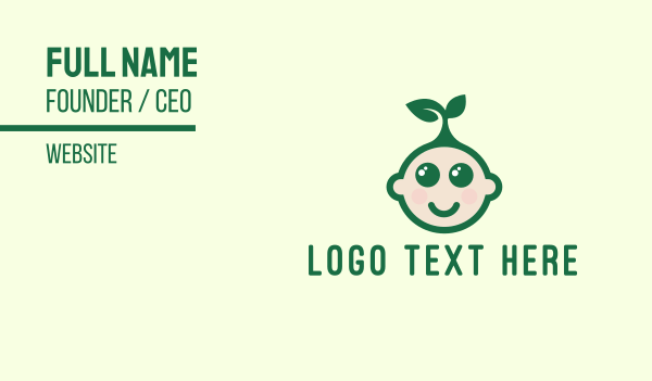 Eco-Friendly Kid Business Card