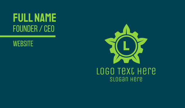 carbon-cleaning - Bio Engineering Lettermark Business card horizontal design