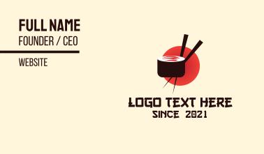 Japanese Sushi Restaurant Business Card