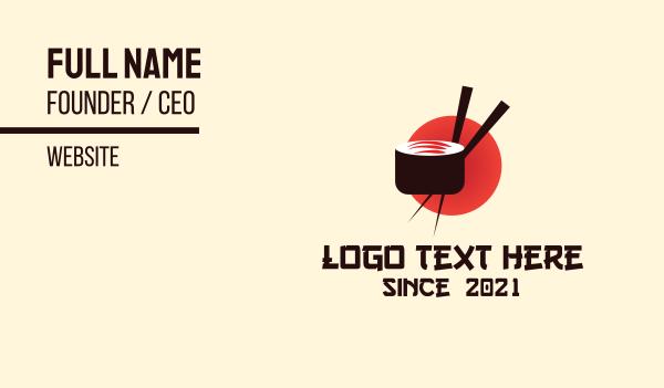 chopstick - Japanese Sushi Restaurant Business card horizontal design
