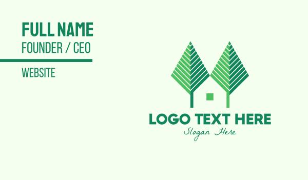 eco park - Green Forest Home Business card horizontal design