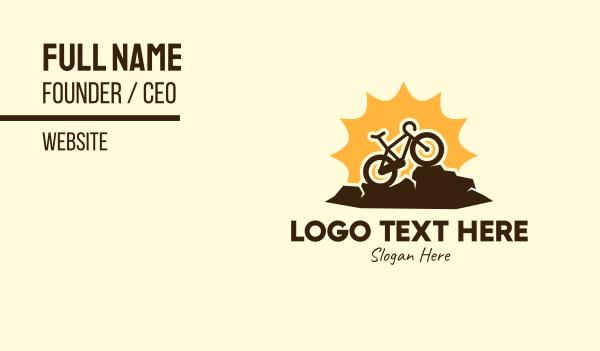 sunny - Sunny Mountain Bike Business card horizontal design