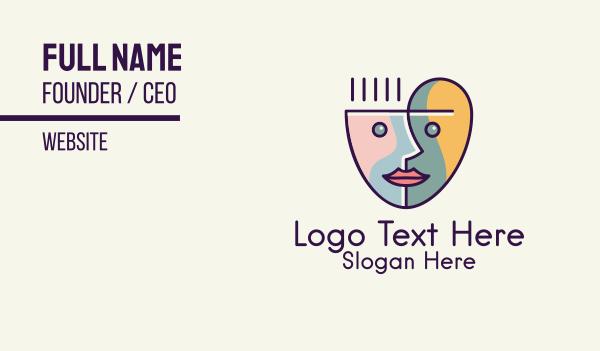 steam - Art Face Cup Business card horizontal design