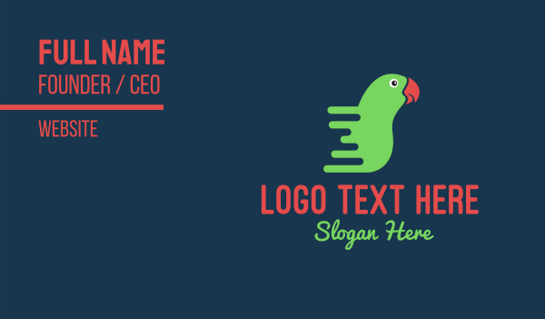 turbo - Fast Delivery Parrot Business card horizontal design
