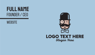 Gentleman Monocle Audio  Business Card