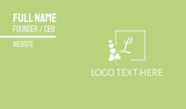 green branch - Organic & Feminine Business card horizontal design