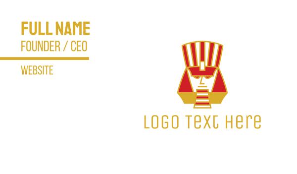 pyramid - Abstract Pharaoh  Business card horizontal design