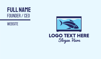 Blue Fish Tank Business Card