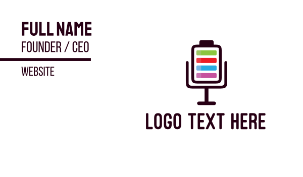 loading - Microphone Battery Business card horizontal design